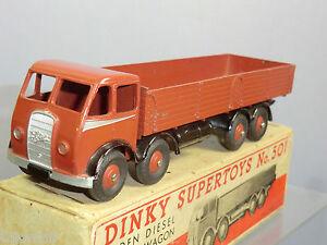 DINKY TOYS MODEL No.501 FODEN DIESEL 8-WHEEL WAGON   ( BROWN VERSION )   VN  MIB