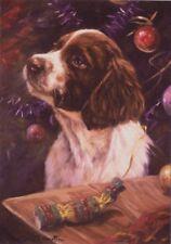 Springer Spaniel Puppy Dog Christmas Cracker Tree Christmas Xmas Card