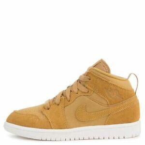 Nike Air Jordan 1 Mid BP Toddler Shoes Golden Harvest/Sail 640734-725 Size 11C