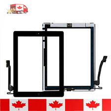 iPad 4 Black Touch Screen Digitizer Home Button Adhesive & Tempered Glass