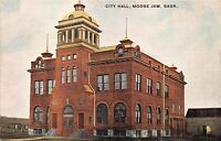MOOSE JAW SASKATCHEWAN CANADA CITY HALL~WARWICK BROS & RUTTER PUB POSTCARD 1910s