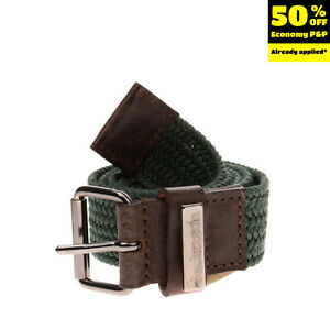 JECKERSON Woven Belt Size S Pin Buckle Closure Made in Italy