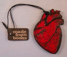 HUMAN HEART Christmas Ornament, Made From Books!, by Yes And Yes Designs