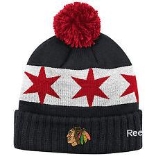 sale retailer e8712 13309 CHICAGO BLACKHAWKS 2016 NHL STADIUM SERIES REEBOK CUFFED POM KNIT HAT TOQUE