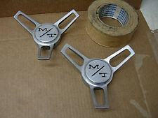 2 1960s MICKY THOMPSON WHEEL HUBCAP ALUMINUM SPINNERS KNOCK OFF CHEVY FORD MOPAR