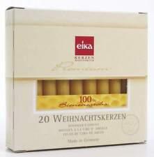 EIKA Baumkerze 100%Bienenwachs naturgelb 20 Stück H105xD12,5mm Weihnachtskerzen