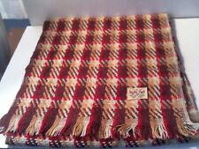 Vintage Durlyne Neck Scarf Checkered Pattern - 100% Acrylic - Japan