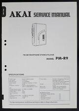 AKAI pm-r9 ORIGINAL AM/FM stéréo lecteur Manuel de service / Diagram & partie