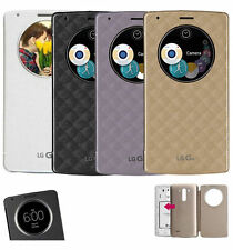 Circle Quick Window Flip PU Leather Case Cover For LG Optimus G3 G4 New Design