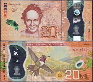 COSTA RICA PNEW**20000 COLONES POLYMER**ND 14/09/2018**UNC GEM**USA SELLER
