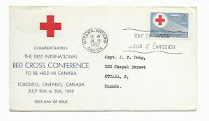 Red Cross Conference 1952 Commemoration SC#317 First Day Cover Canada