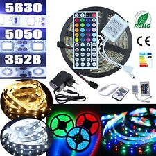 Ruban Bande LED Strip 5M Blanc-/chaud Vert Bleu Rouge RGB 5630 3528 5050 SMD