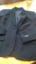 Women's New Look black Pinstripe Jacket Size 16
