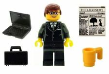 LEGO Business Man Office Worker Minifig with Laptop & Accessories NEW City