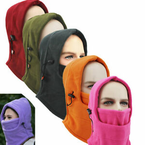 Warm Neck Windproof Thermal Fleece Ski Face Mask Hat For Cold Weather