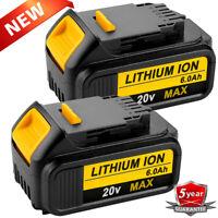 For DeWalt DCB206-2 20V Max Lithium Ion Battery XR 6.0AH 2-Pack DCB205-2 DCB200