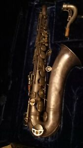 Conn 10M Tenor Saxophone 1930s series nichol plated in original case black velve