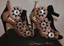 CHRISSIE MORRIS 329 Paloma Nappa Gold/Black- Size 38