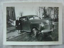 Vintage Car Photo Woman w/ 1941 Plymouth 825722