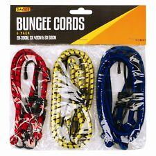 6 x Bungee Cords Wires Cables Straps Bungie Elastic 30cm 45cm 60cm