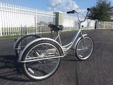 "3 Wheel Bike Trike Brand New 24"" Inch Wheels Big Seat High Quality Easy To Ride"