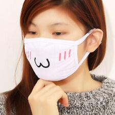 1PCMignon Coton Blanc Anime émoticônes Mouth-moufle anti-poussière Masque Kawaii
