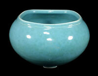 RARE VINTAGE WALRICH ART POTTERY VASE BERKELEY CALIFORNIA MOTTLED BLUE GREEN