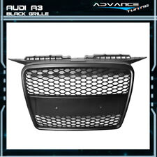 Fit For 06-08 Audi A3 ABS Front Mesh Hood Grille Grill Honeycomb - Black
