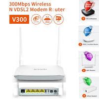 Brand New Tenda V300 Wireless 300 Mbps VDSL2+/ADSL2+ Modem Router