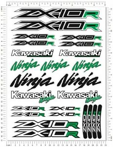 Ninja Racing ZX-10R Motorcycle Decals Fairing ZX10R Laminated Quality Stickers