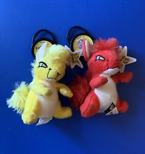 Neopets Kyrii McDonald's Plush with Petpet Keychains