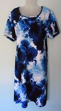 AVENUE 3X  22/24W womens dress DARK BLUE DELF BLUE S/S STRETCH SHEATH NWOT