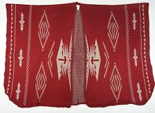 Francesca's Aztec Southwestern Open Front Poncho Cape Shrug ONE-Size Maroon Red