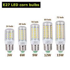E27 E14 B22 G9  LED Maíz Lámpara Blanco Puro Bombilla 3W 6W 9W 12W 15W SMD 5730