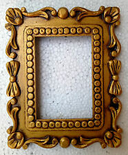 Wooden Photo Frame Vintage Design Hand Carved Picture Collectible Art