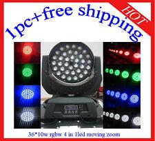 Led Moving Head 36*10W Zoom RGBW Effec tLight Home/Club Light 1pc Free Shipping