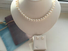 Christmas Gift Jewellery Genuine Freshwater Pearl Necklace/Earrings SET