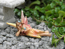 "Miniature Dollhouse FAIRY GARDEN ~ TINY 2"" Sun Kissed Fairy PINK ~ NEW"
