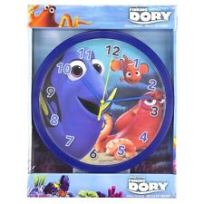 FINDING DORY & NEMO CHILDRENS KIDS 24cm WALL CLOCK BLUE WITH HANK THE OCTOPUS