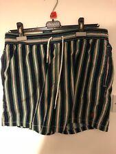 Men's Ralph Lauren Swimming Shorts, Navy Red/Green/White Stripe, Medium, Used