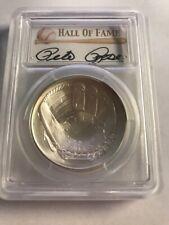 PETE ROSE 2014 Silver $1 coin RARE MS69 HOF Baseball Hall Fame PCGS PETE ROSE