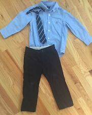 BABY GAP 3pc Outfit Lot - UNIFORM PANTS, BUTTON-DOWN DRESS SHIRT, NECK TIE 4 YRS