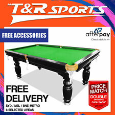 8FT GREEN PUB SIZE LUXURY SLATE POOL/SNOOKER/BILLIARD TABLE+INSTALLATION