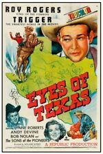 "ROY ROGERS EYES OF TEXAS - VINTAGE WESTERN MOVIE POSTER 12"" X 18"""