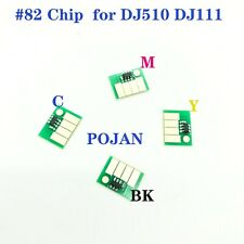 4Chip x Ink Cartridges chip Fit for HP Designjet 510 111  HP82 INK CMYK CH565A