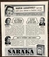 ORIGINAL 1940 Saraka Laxative Print Ad People Ask Nurse About Constipation