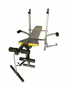 Multi Gym Bench Heavy Duty Steel Weight Bench  Barbell Curl Butterfly