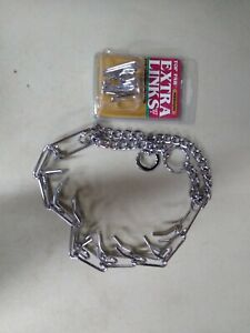 Chrome Metal Prong Pinch Dog Training Collar with EXTRA LINKS