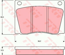 FIAT 1500 116 1.5 Brake Pads Set Front 61 to 69 115C.005 TRW 5862742 Quality New