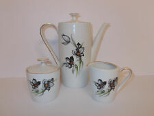 Winterling Marktleuthen Coffee Pot Sugar Bowl and Milk Jug Floral Lovely